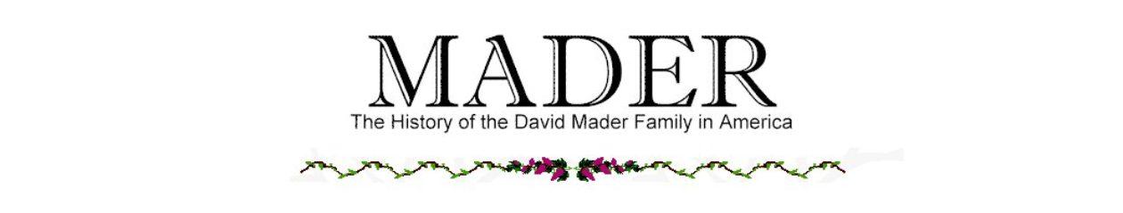 Mader Family History